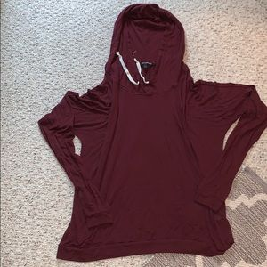 Maroon Loose Fitting Brandy Melville Sweatshirt